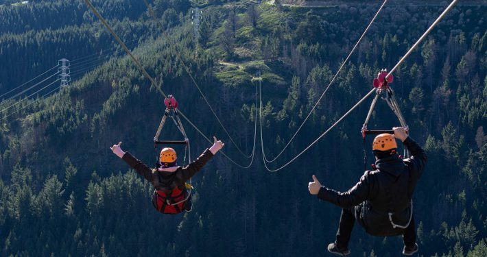 Stoked To Be Riding The Highest Zipline In New Zealand - Christchurch Adventure Park